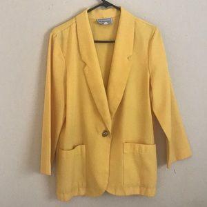 Yellow vintage blazer